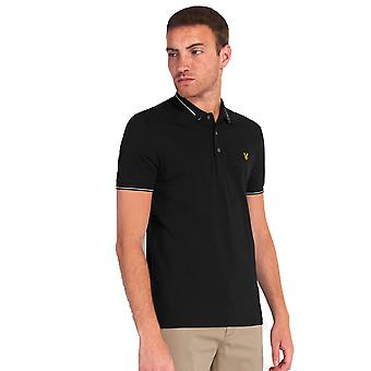 Lyle & Scott Branded Collar Polo Shirt - Jet Black
