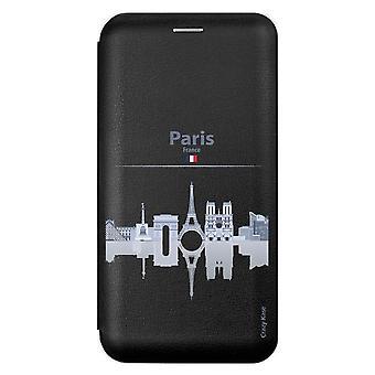Caso para Xiaomi Redmi 9 Black Motif Monumentos De París