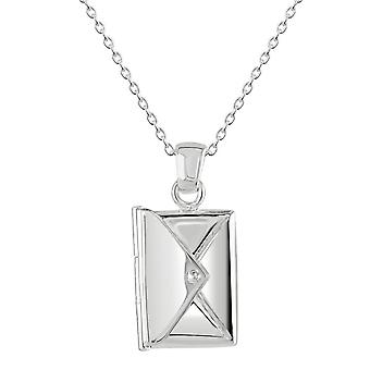 Dew Silver Envelope And Removable Love Letter Pendant 98083HP028