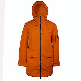 Lyle & scott men's risk orange zip detail parka