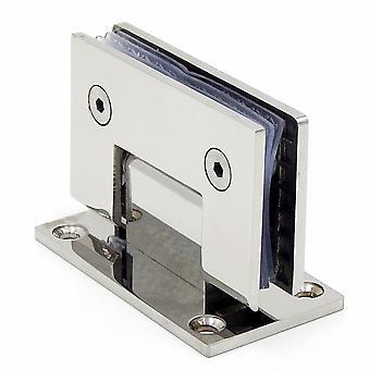 Porte en verre sans cadre en acier inoxydable, charnière 90 degrés -pliage clip en verre
