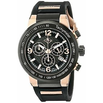 GV2 by Gevril Men's 8200 Novara Chronograph Luminous Gold IP Silicone Watch