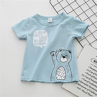 Cotton Boys' Clothing Baby T Shirt Short Sleeve Cartoon Casual Summer First Birthday Clothes