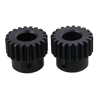 2PCS 1 Modulus 20 Teeth Motor Steel Gear Wheel Top Screws 10mm Diameter