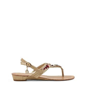 Laura biagiotti 713 women's ankle strap rhinestones flip flops