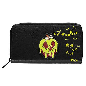 Snow White Purse Evil Queen Logo new Official Black Zip Around