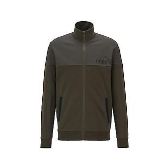 Hugo Boss Vapaa-ajan kuluminen Hugo Boss Men's Open Green Zip Jacket