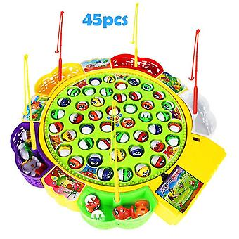 Kids Electronic Rotating Magnet Fish Play Board &musical Plate Set Outdoor