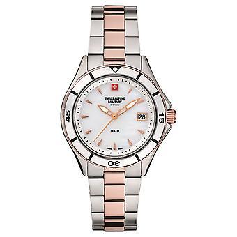 Reloj de mujer militar alpino suizo cuarzo analógico 7740.1153SAM acero inoxidable