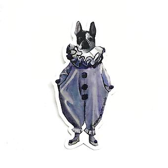 Frenchie Clown Vinyl Aufkleber