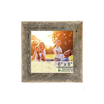 "6"" x 6"" Natural Weathered Gray Picture Frame"