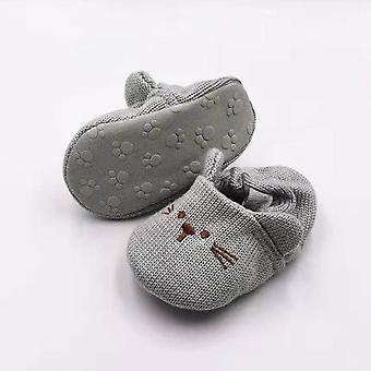 Ihana Pikkuvauva tossut Vauvan neule Kengät Söpö Sarjakuva Anti-slip Prewalker
