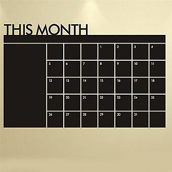 Monthly Calendar Wall Sticker Blackboard