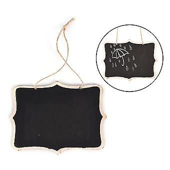 Wall-mount Wooden Black Board With Rope, Wood Blackboard Memo, Message