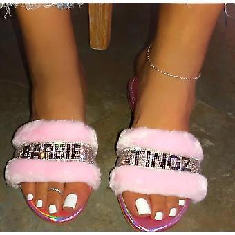 Sommar kvinnor & s tofflor, mode Crystal Beach Toffel platt skor
