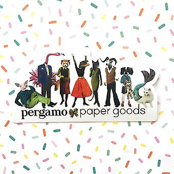 Retro Animal Party Vinyl Sticker