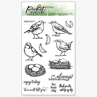 Picket Fence Studios Songbirds Clear Stamps