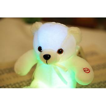 Girls Led Light Stuffed Bear Baby Old Kids Toys Xmas New Year Gifts