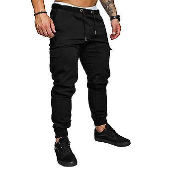 Autumn Men Pants, Male Trousers, Joggers Solid Multi-pocket Sweatpants