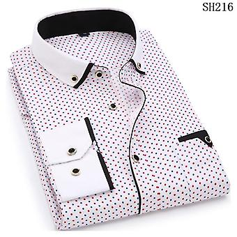 Homme Mode Casual Long Sleeved Printed Slim Fit Shirt