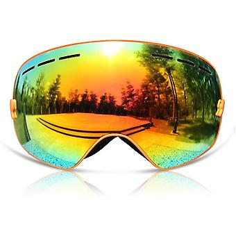 GANZTON Ski Goggles Skiing Snowboard Windproof Goggles with OTG Over Glasses,Double Lens,Anti-UV