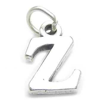 Letter Z Initial Sterling Silver Charm .925 X 1 Letters Charms Pendant - 4252