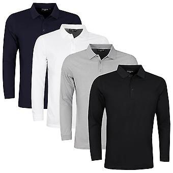 Glenmuir Mens 2021 Max UV Protection Long Sleeve Winter Golf Polo Shirt