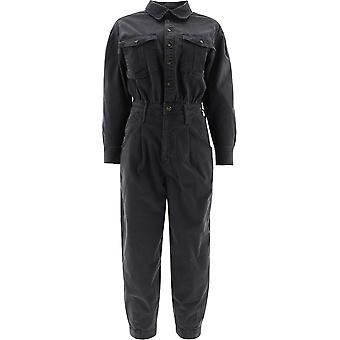 Frame Pbljmp999 Women's Black Cotton Jumpsuit