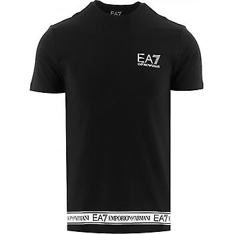 EA7 Black Crew Neck T-Shirt