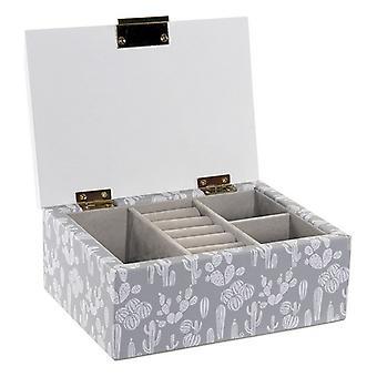 مجوهرات مربع DKD الرئيسية ديكور الصبار MDF الخشب مطلي رومانسية (17 × 12 × 7 سم)