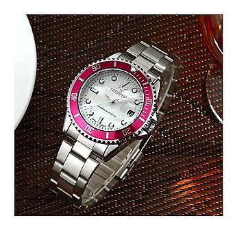 Genuine Deerfun Homage Watch White Pink Silver Date Watches Quality Fashion