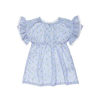Alouette Girls' Dress With Rolls On The Sleeve