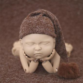 Baby Photography Soft Beanie With Fur Pom Pom Cute Knitted Pointed Caps