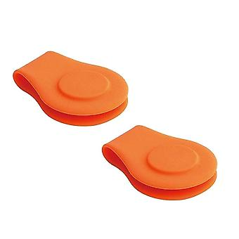 Suporte de marcador de bola de chapéu de golfe magnético de silicone
