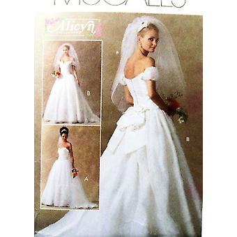 McCalls naaipatroon 4775 mist bruids bruidsjurk jurk maat 14-20 ongesneden