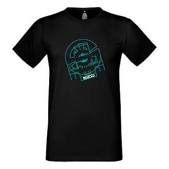 Men�s Short Sleeve T-Shirt Sparco Tron Black/S