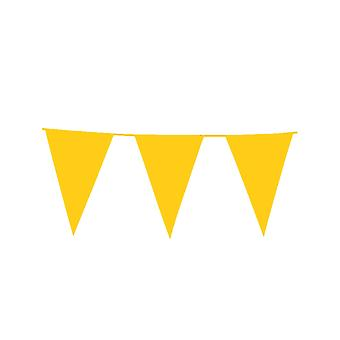 Guirlande à fanions géants jaunes 10m