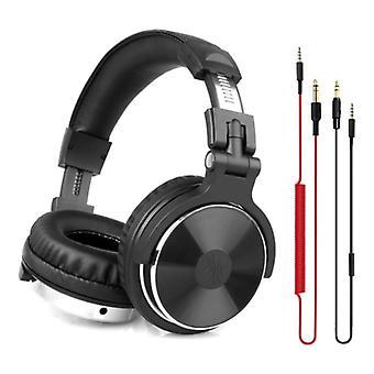 """אוזניות OneOdio Studio עם חיבור AUX בגודל 6.35 מ""""מ ו-3.5 מ""""מ - אוזניות עם אוזניות DJ למיקרופון שחור"""