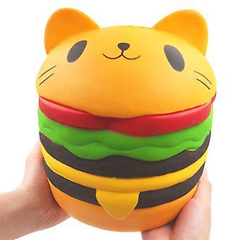המבורגר חתול גדול מדי Squishy איטי ריבאונד לשחרר את הלחץ צעצועים פורקן לילדים, מבוגר