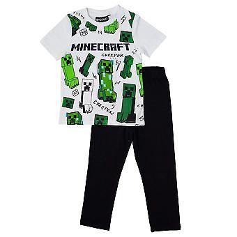 Minecraft Boys Glitching Creeper Pyjama Set