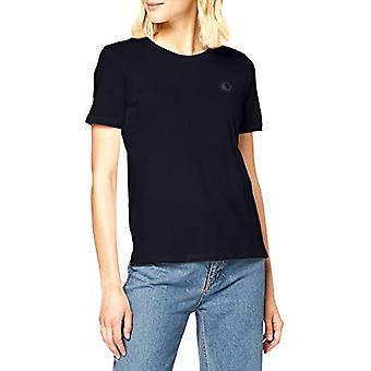 Camiseta escocesa y de algodón orgánico soda con camiseta de arte de pecho, azul (noche 0002), mujer mediana