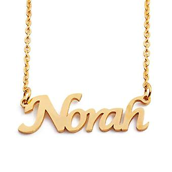 KL Norah - 18 karan kullattu kaulakoru, mukautettu nimi, säädettävä pituus 16 - 19 cm