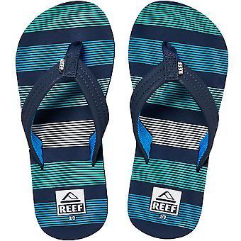 Reef Kids Ahi Summer Beach Holiday Sandalen Thongs Teenslippers - Deep Sea Stripes