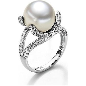 Luna-Pearls - Ring - Pearl Ring Brilliant - White Gold - 005.0952 Gr 56 (17.8mm)