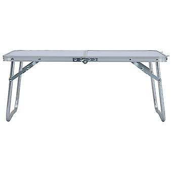 vidaXL Taitettava retkeilypöytä Valkoinen Alumiini 60 x 40 cm