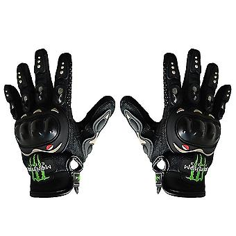 M schwarz Offroad Motorrad Handschuhe, Motorrad/Elektro-Bike voller Finger Handschuhe az2125