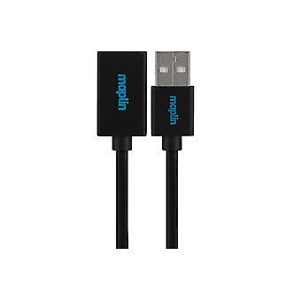 Maplin Premium USB-A 2.0 Extension Cable - Black, 3m
