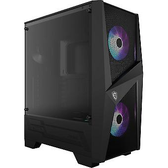 MSI MAG FORGE 100R Mid Tower Gaming Computer Case Schwarz