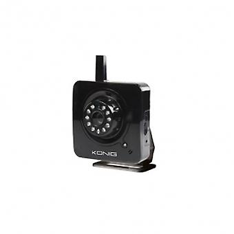 Konig IP Camera two way intercom email notification motion detection Black
