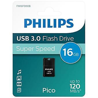 Philips USB 3.0 Pico Edition Flash Drive 16GB - Preto